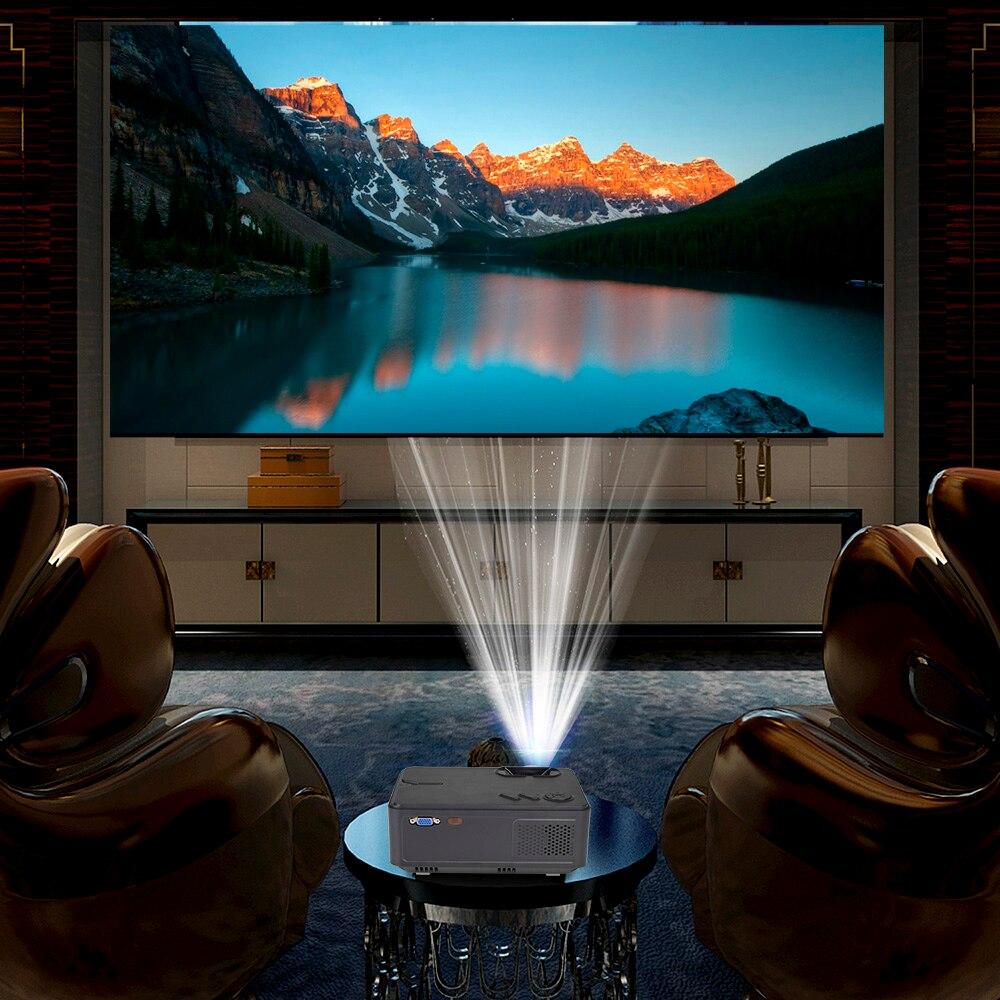 Image 4 - Rigal мини проектор RD813 2000 люмен светодиодный WiFi Android 6,0 проектор 3D проектор Поддержка HD 1080P портативный домашний кинотеатр-in Проекторы для домашнего кинотеатра from Бытовая электроника