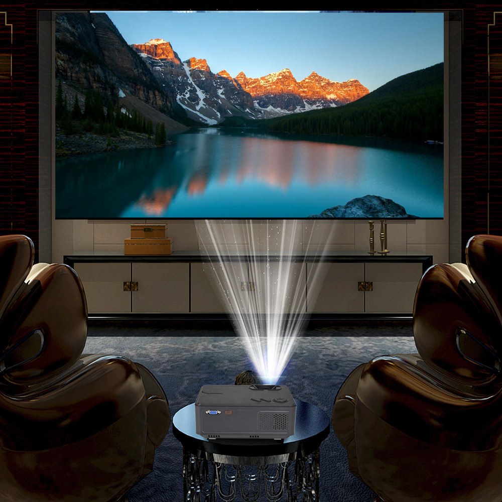 Image 4 - Rigal RD813 Mini Led Projector WiFi Multi Screen Proyector 2000 Lumen Portable Home Cinema Theater Smart 3D Movie HD Projector-in LCD Projectors from Consumer Electronics