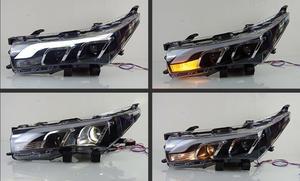 Image 2 - וידאו תצוגת רכב סטיילינג עבור פנס קורולה altis 2014 2015 LED DRL נורת hid Bi קסנון עדשת hi lo Beam חניה ערפל מנורה