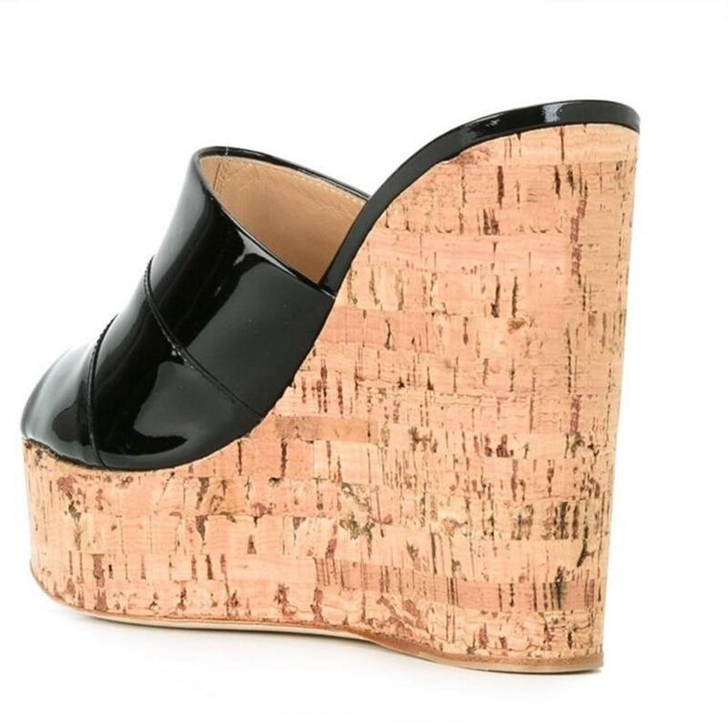 Pompes as Picture Croissante Chaussures forme De Sandales Orteils Coins Diapositives As Picture Été Pour Hauteur Plate Femme Extérieur Noir Femmes Pantoufles Ouvert qpfFx