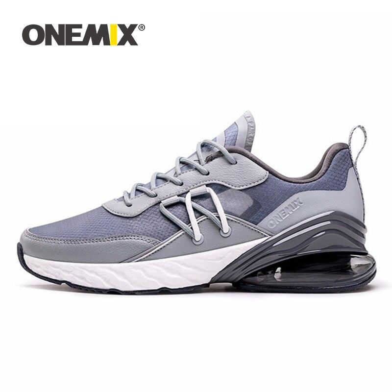 ONEMIX 2019 Turnschuhe Männer Wandern Schuhe Air Kissen Dämpfung Komfortable Mesh Frauen Athletisch Trainer Flache Männlichen Tennis Walking Schuh