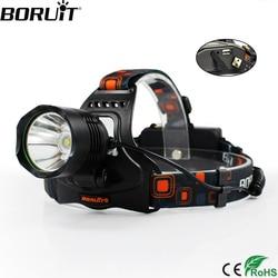 BORUiT Multifunction 5 Modes XM-L2 LED Headlight Power Bank DC <font><b>Charger</b></font> Headlamp 18650 <font><b>Battery</b></font> Head Torch Camping Flashlight