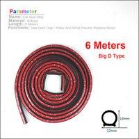6 meter Big D 12*14mm Rubber Seals Car Door Seal Insulation Anti noise Waterproof Rubber|Plastic & Rubber Care|Automobiles & Motorcycles -
