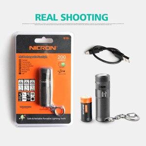 Image 5 - NICRON سلسلة مفاتيح بكشاف LED صغير 3 واط USB قابلة للشحن المدمجة مصباح مصباح شعلة مقاوم للماء 3 طرق للمنزل في الهواء الطلق الخ