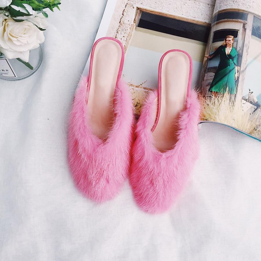 Slingback Visón Rosa Piel Spike Lujo Dulce Zapatos Mujer Perfetto Cubierta Tacón Tacones Prova Alto Zapatillas Mujeres Rosado Toe De Outwear vwZI5qxaS
