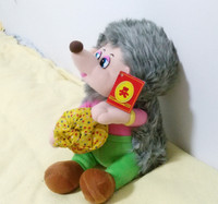 English Language Music Song Masha And Bear Hedgehog Plush Electronic Dolls Toys For Boy Children Kids