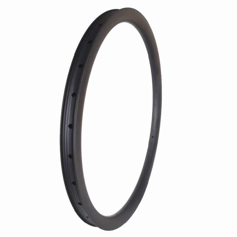 aerodynamics!carbon MTB wheel 29er 30x30mm double wall hookless clincher tubeless with larger arc lips cerchi 29inch cycling rim