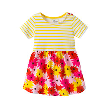 Summer kids dresses for girls Casual Striped print sunny girls dress 2019  toddler girl dresses Pageant party Chidlren Clothes