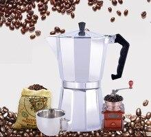 6cup moka olla De Aluminio estilo Bialetti cafetera cafetera para la estufa de gas cookern