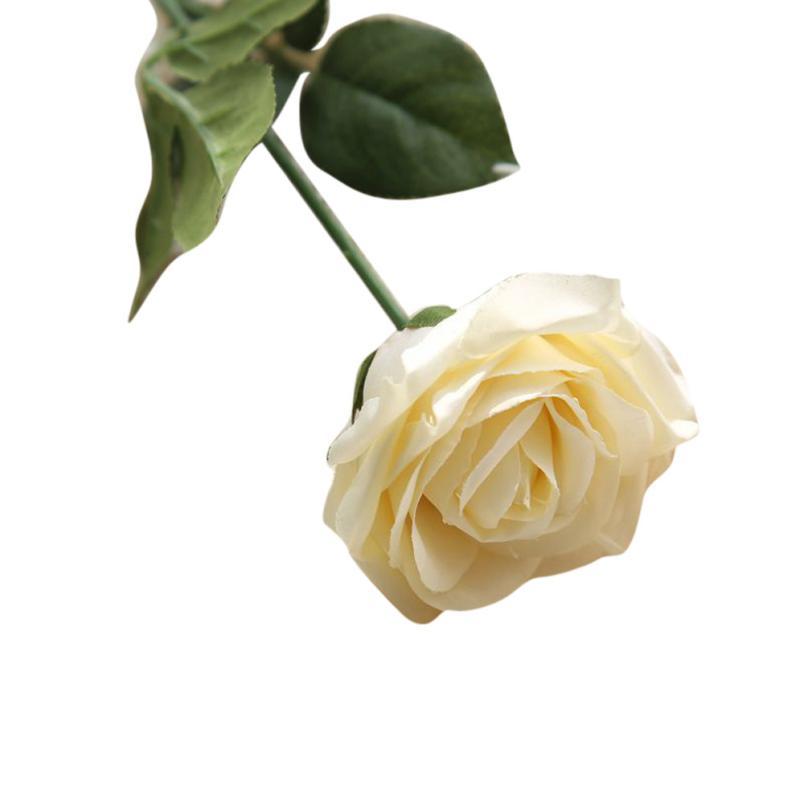 1PC Rose kunstlik lilled võltsitud lilled siidist lilled õie lateks - Pühad ja peod - Foto 4