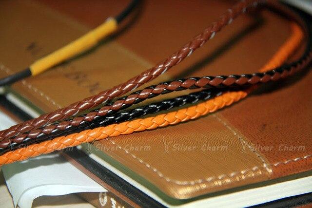 Silver Charm Leather Bracelet