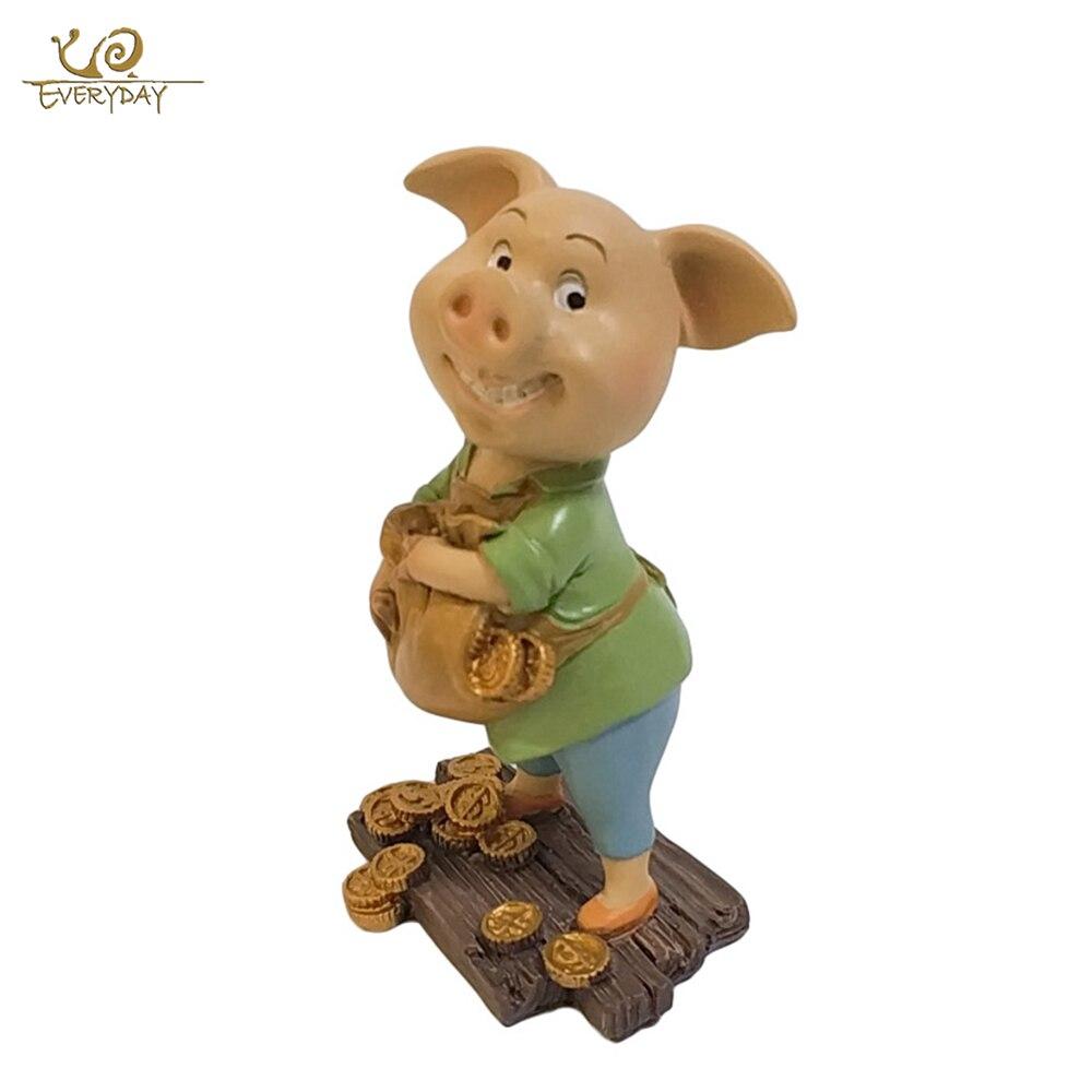 Todos los días de Año Nuevo lindo cerdo figura miniatura hadas jardín decoración hogar Decoración de Casa decoración de escritorio de regalo
