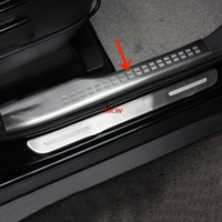 Stainless Steel Inner Inside Door Sills For Mitsubishi Outlander 2013 2014 2015 2016 2017 2018 Panel Scuff Plate Kick Step Trim
