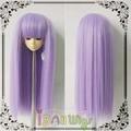 Brand new straight soft purple BJD doll wig shedding free 1/3 1/4 1/6 1/8 for choice