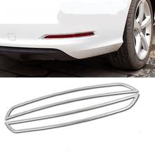 Coche faros antiniebla Trasera cubierta de barras verticales de coches luces de niebla cubierta decoración tiras para Audi A3 2013 car styling Exterior decoración