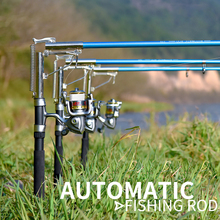 Automatic Fishing Rod (Without Reel) Sea River Lake Stainless Steel Automatic Fishing Rod Fish Pole 1.8m 2.1m 2.4m 2.7m 28 adjustable carbon fishing rod exquisite durable fishing pole river fishing rod lake fish pole