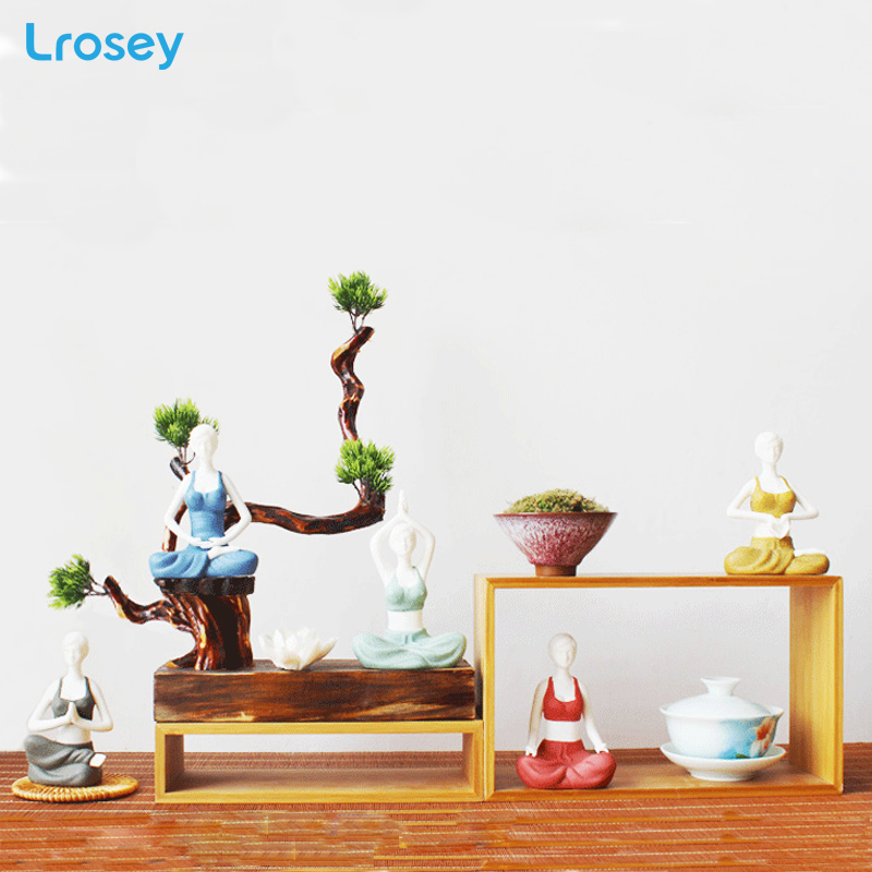 Creative Kung Fu Yoga Girl Decoration Modern Ceramics Home Decoration Craft Jewelry Characters Statues
