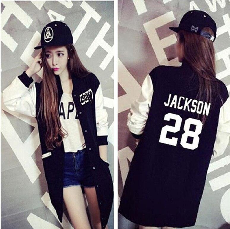 GOT7 kpop concert student plus velvet clothes jacket baseball k-pop got 7 Casual Hoodies coat women Single-breasted Sweatshirts