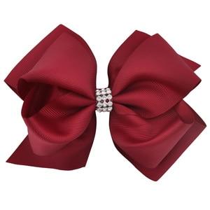 Image 3 - 20 sztuk/partia 6 Cal mieszane kolor najnowsze dziewczyny Hairwear duże podwójne warstwy Hairbow dzieci G taniec Boutique włosów łuki klipy