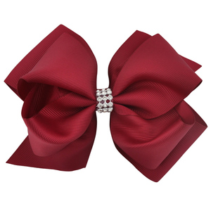 Image 3 - 20pcs/lot 6 Inch Mixed Color Newest Girls Hairwear Large Double Layers Hairbow Kids G Dancing Boutique Hair Bows Clips