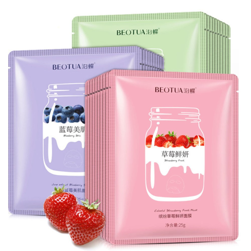 Extracts Essence Facial-Mask-Remover Fruit-Face-Masks Whitening Face-Care Firming Moisturizing