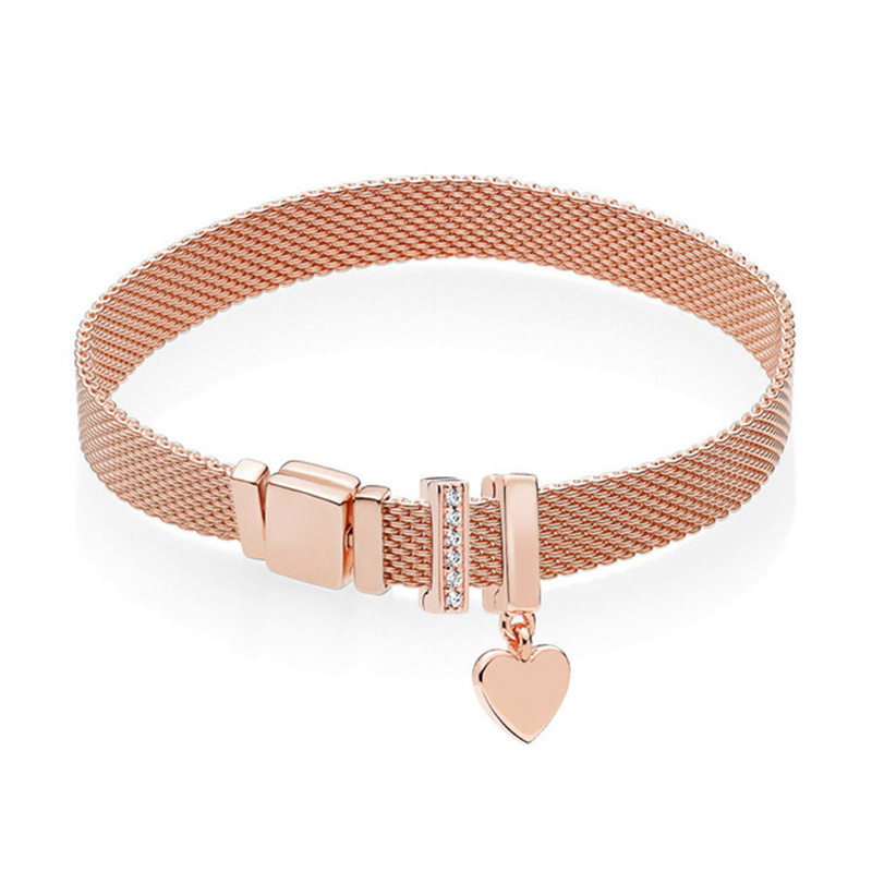 Nouveau 100% 925 Bracelet en argent Sterling réflexions ensemble Simple mode élégant Fit européen bricolage Original charme perle bijoux cadeau