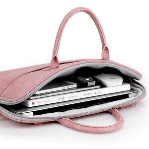 Image 2 - Da PU thời trang túi xách đựng Laptop cho nữ 14 15 15.6 17.3 inch cho Macbook Air 13 inch áo di động chống nước Túi đựng Máy Tính xách Tay