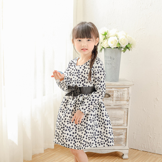 kids girls spring dresses children girl dot printed bow princess dress baby casual clothes toddler beautiful clothing 1-12T new baby girls clothes fashion style dress for girl polka dot dresses white bowknot shirts children clothing set girls costume