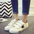 HOT 2017 Preppy Style New Autumn High Platform Canvas Shoes for Women's Breathable Hook&Loop Women Casual Shoes Zapatillas G105