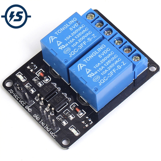 5V 2 Channel Relay Module for Arduino Uno R3 Raspberry Pi Relay Interface Board Raspberry Module Control Board with Optocoupler