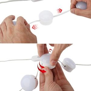 Image 2 - Specchio per il trucco Luce Lampadine Kit 10 USB LED Luci Della Stringa Regolabile Luminosità Cosmetici Light Tocca Controllo Vanity Specchi Lampada
