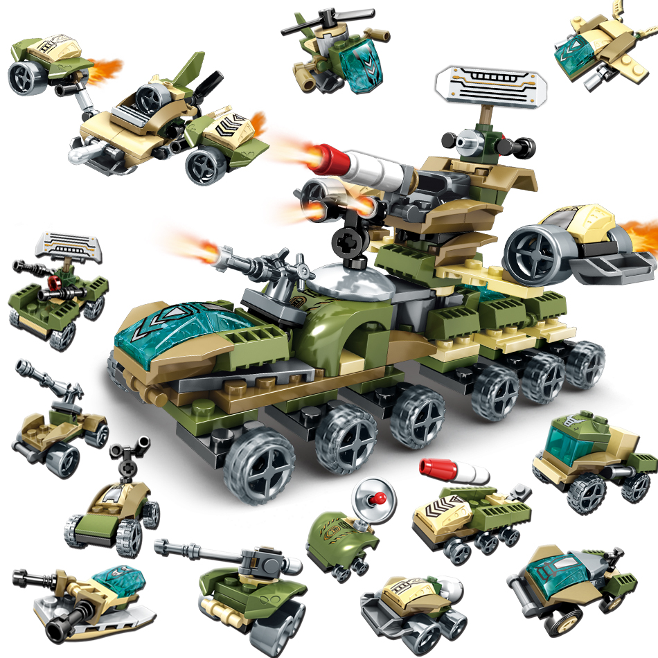12in2 Military Armored Chariot Building Blocks Compatible Legoing army weapon world war Helicopter tank bricks Toys for Children military army war special police force ch 47 chinook helicopter building blocks sets bricks model kids toys compatible legoe