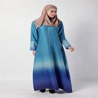 Bubble Tea New Muslim Dress Women Middle East Islamic Abayas Clothing Malaysia Rainbow Gradient Robe Arab Cocktail Dresses Hot