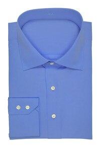 Image 3 - Col découpé à deux boutons, 100% coton, neuf couleurs, coupe cintrée de douanes, concevez votre propre chemise, offre spéciale