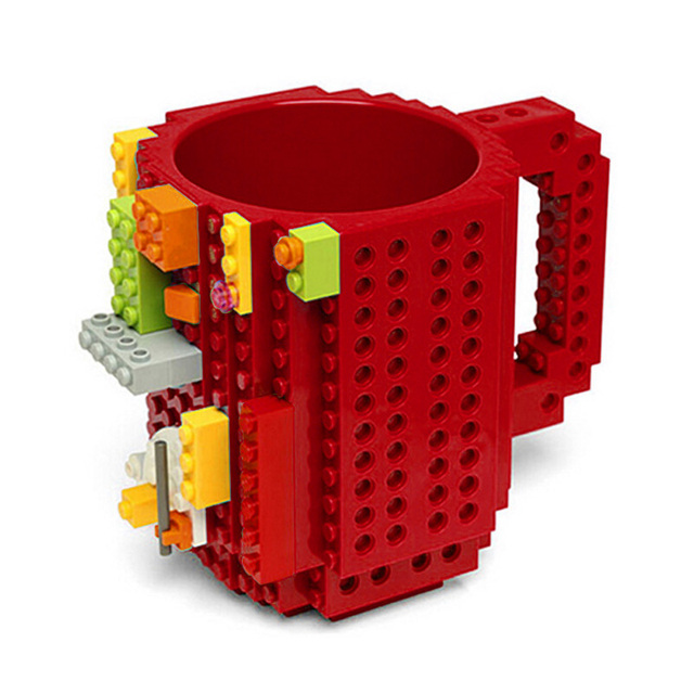 350ml Milk Mug Coffee Cup Creative Build-on Brick Mug Cups Drinking Water Holder for LEGO Building Blocks Design 3