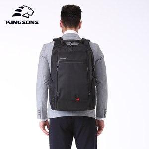 Image 2 - KINGSONS 2019 yeni öğe erkek kadın moda Laptop sırt çantası iş rahat seyahat sırt çantası omuz çantası okul çantası küçük