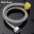 Шланг Сантехнический Sully House 304 из нержавеющей стали для раковины и туалета, шланг для сварки, нагреватель для ванной комнаты из этиленвинила...