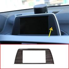 Черное дерево зерна Цвет АБС центр навигации Панель рамка отделочный стикер для BMW X1 F48 2016-2019 автомобильные аксессуары