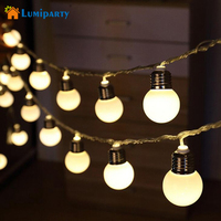 LumiParty 5M Globe Ball String Light With 20 LED Decorative Outdoor Festoon Fairy Light For Outdoor
