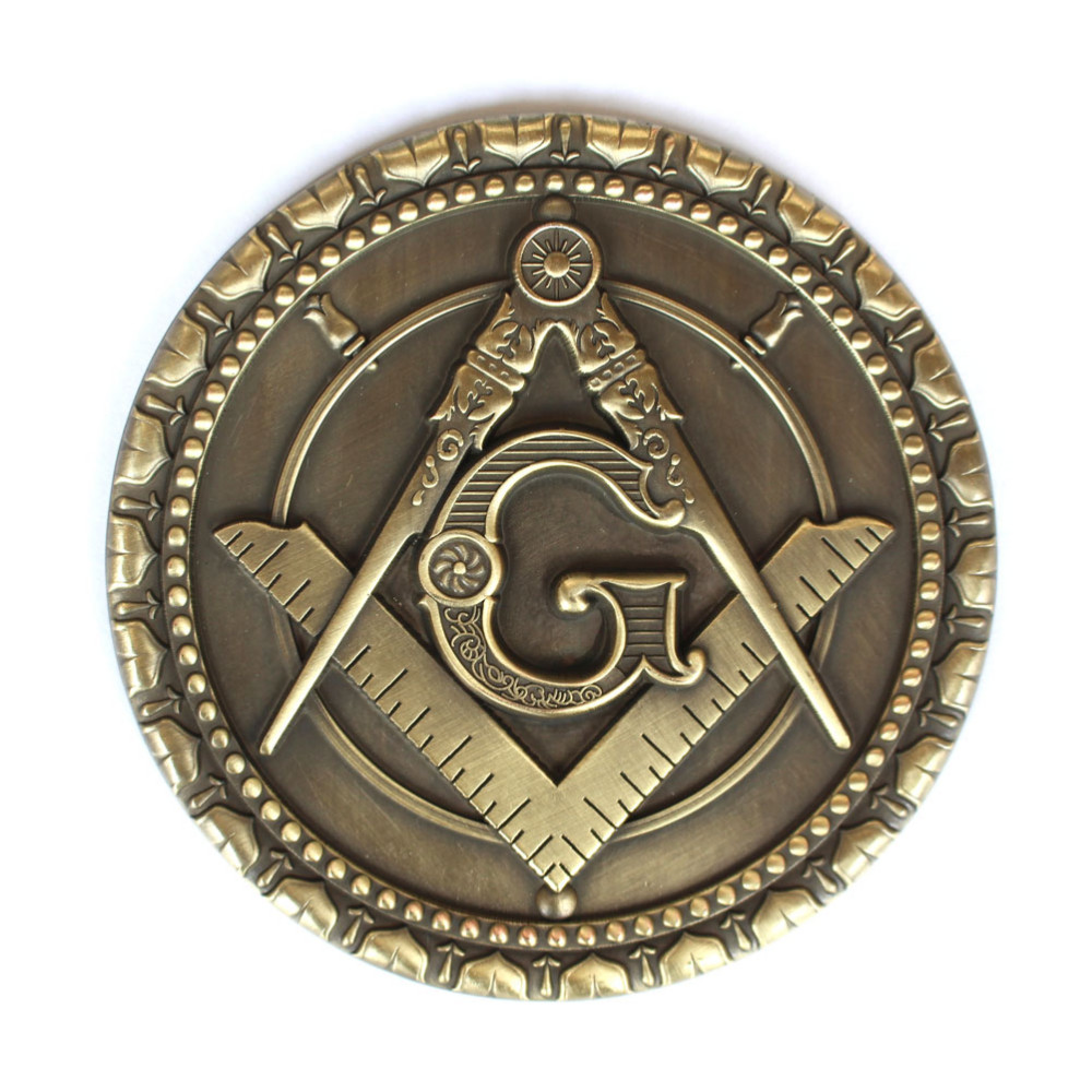 20pcs Masonic Car Emblem Mason Freemason decorations Badges Bronze Motorcycle metal car Emblems stickers