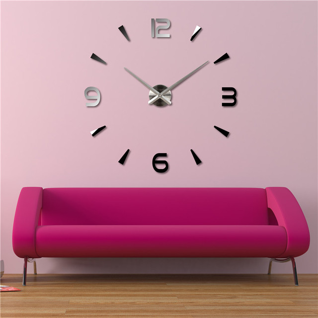M.Sparkling Unique Gift Hot Model diy Living Room Wall Watch Super ...