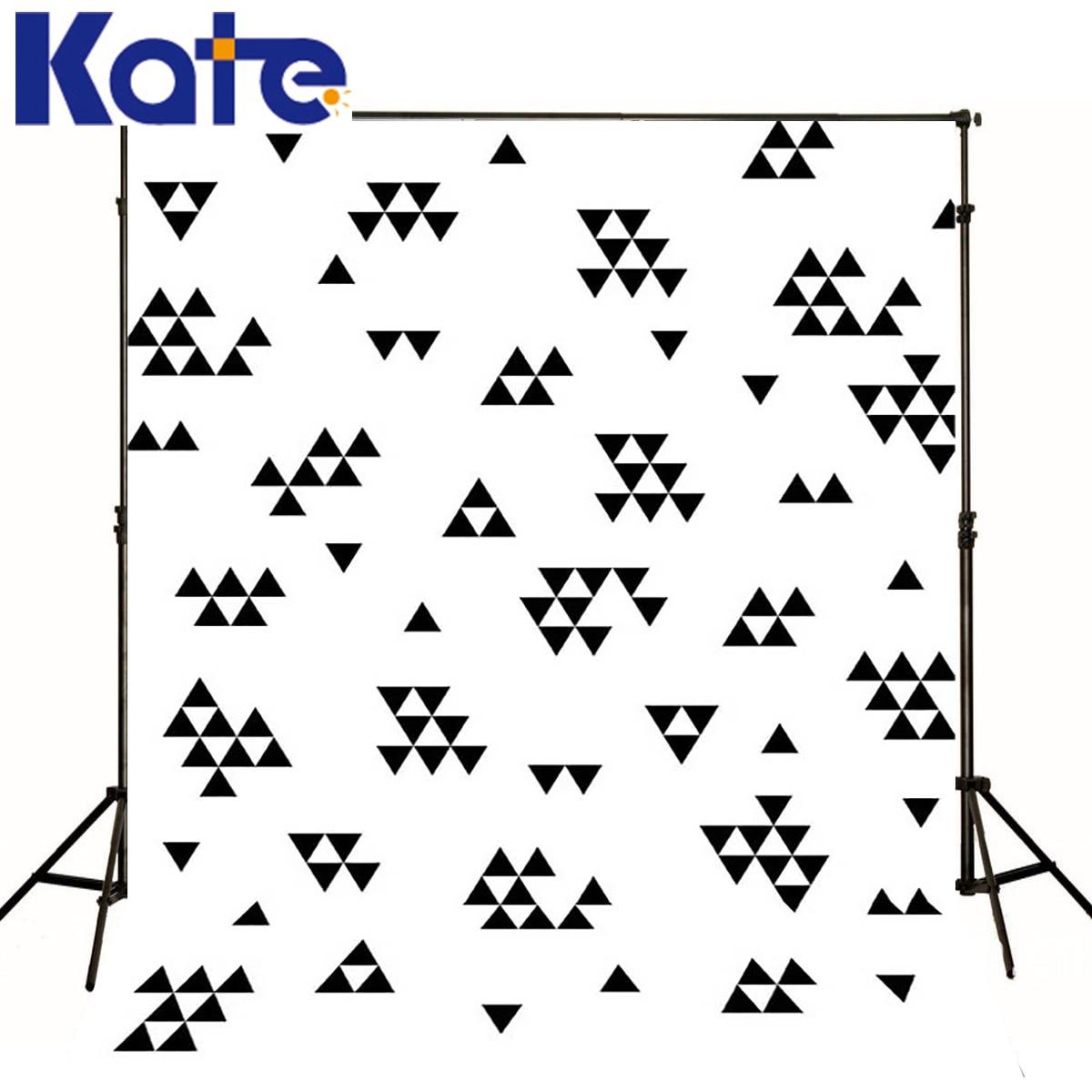 Arrière-plans enfants Design moderne photographie bébé toile de fond noir Triangle Puzzle fond de Studio numérique