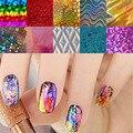 10 unids/lote Transferencia Art Nail Láminas Pegatinas Super Hermosa Nail Gel Polaco Wrap Mixed Diseñado Nail Tips Decoraciones Herramientas