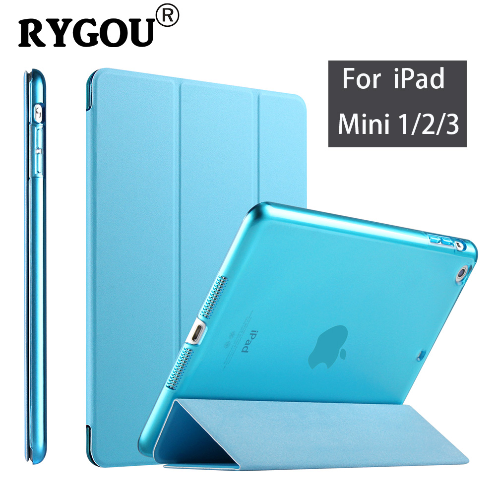 RYGOU for iPad mini Case, YiPPee Color Ultra Slim Stand PU Leather Cover Case For Apple iPad mini 1 2 3 wake up sleep Function audrey hepburn breakfast poster smart cover case for apple ipad mini 1 2 3 4 air pro 9 7 stand folio wake up sleep function
