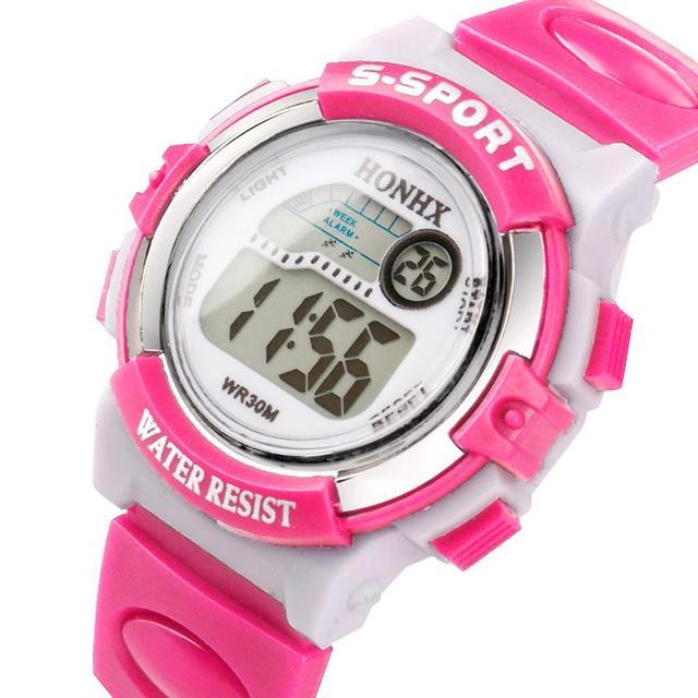 Popular Brand Children kids fashion Sports Watches Digital LED Wristwatches 3 colors Girls Boys School Watches orologio donna