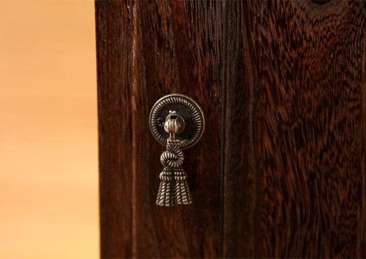 Japonais Antique en bois armoire à thé Paulownia bois asiatique meubles traditionnels salon tiroir armoire de rangement - 4