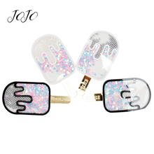 JOJO BOWS 1pc Quicksand Popsicle Patches For Craft Planar Resin Accessories Apparel Decoration Materials DIY Supplies