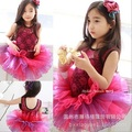 New Child professional tutu Ballet Dress Girls Party Ballet Tutu Dance Dress amaranth lace tutu dress