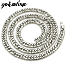 GOKADIMA 2017 New Mens Necklace Chain Fashion Party Stainless Steel Jewelry Gift 60cm 7mm, WN031