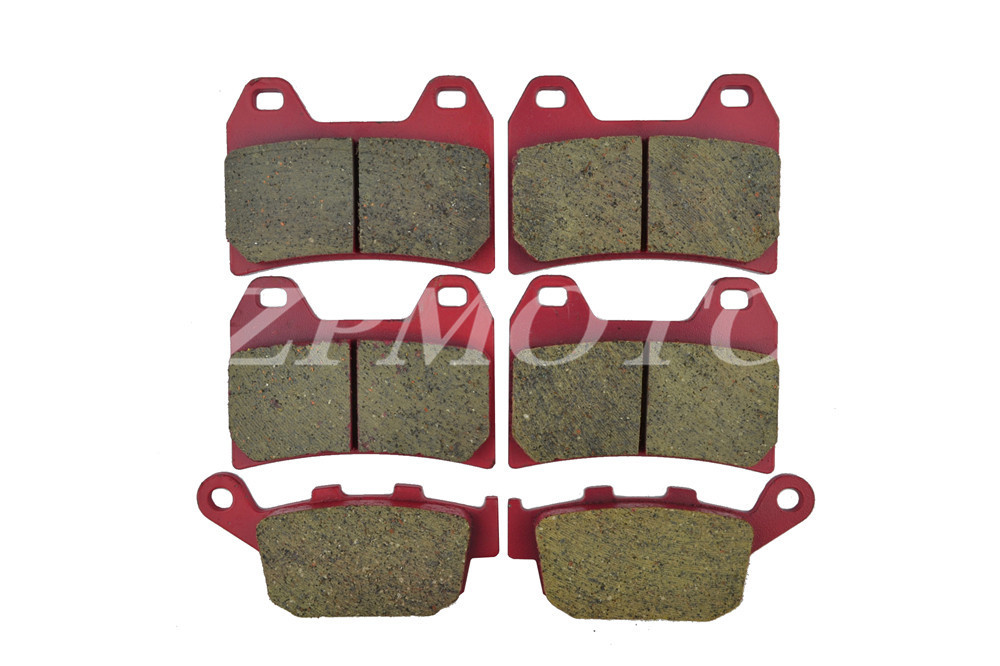 Front+Rear CB400 98 CARBON CERAMIC ROAD BRAKE PADS High-Quality front rear cb400 vtec 1999 2000 carbon ceramic road brake pads high quality